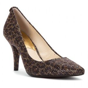 Brand new Michael kors Glitter leopard print heels